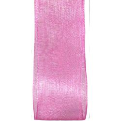 hot pink sheer ribbon in 25mm width