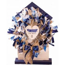 Seaside Inspired Ribbon Wreath Kit.