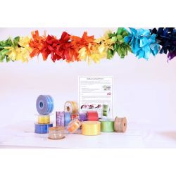 extra large ribbon rainbow garland kit