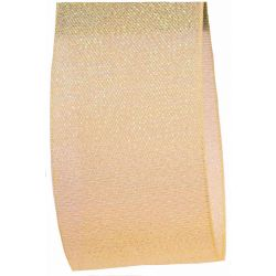 Candy Shimmer Ribbon in Golden Vanilla - 38mm x 10m