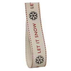 25mm x 20m Christmas Ribbon - Let it Snow