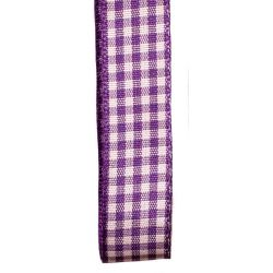 Gingham Ribbon By Berisfords in Liberty (Colour 952) - available in 5mm - 40mm widths