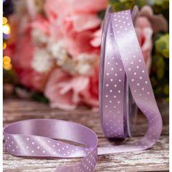 15mm lilac micro dot ribbon by Berisfords Ribbons