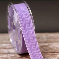 36mm Lilac Velvet Ribbon With Herringbone Design