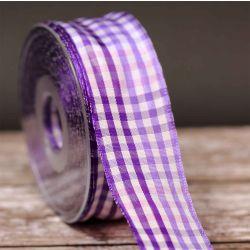 Puerto Rico Purple Plaid Ribbon 40mm x 25m