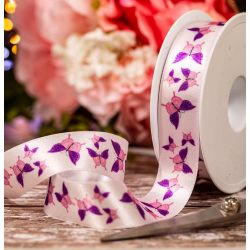 25mm Lilac Butterfly Ribbon