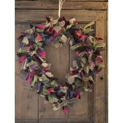 Luxury Heart Wreath Burgundy and green
