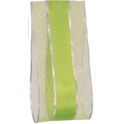 Meadow Green sheer and satin ribbon