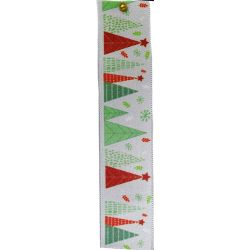 Merry Trees Christmas Ribbon 25mm x 25m