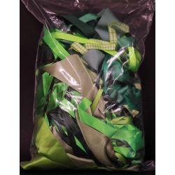 Mixed Bag Of Green Dye House Waste Ribbon 250grm