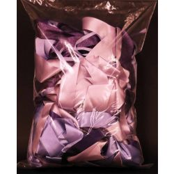 Mixed Bag Of Purple & Lilac Dye House Waste Ribbon 250grm