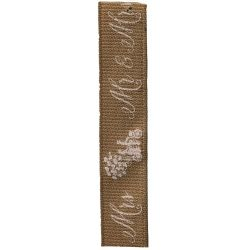 Mr & Mrs Rustic Style Ribbon - By Berisfords Ribbons