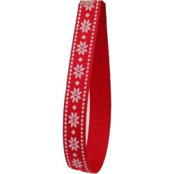 narrow 10mm wide christmas red ribbon
