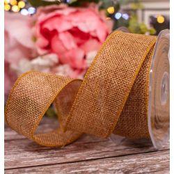 32mm Tan Coloured Natural Hessian Ribbon