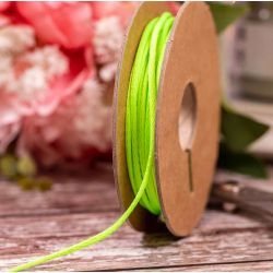 Neon Lime Coloured 2mm Twine By Berisfords Ribbons