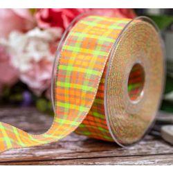 40mm x 20m Neon Tartan Ribbon