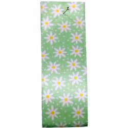 25mm green Daisy Chain Ribbon