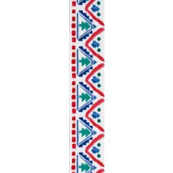 Nordic tree Christmas ribbon in multi colours