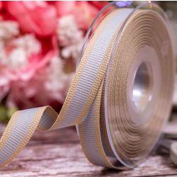 Oatmeal Stripe Ribbon Col: Light Grey 15mm x 15m