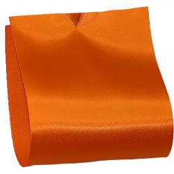 100mm x 50m Single Satin Wide Ribbon  col; Bright Orange
