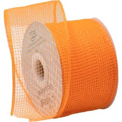Orange Deco Mesh Ribbon