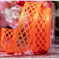 35mm x 15m Trellis Ribbon In Flo Orange