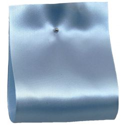 100mm x 50m Single Satin Wide Ribbon  col; Pale Blue
