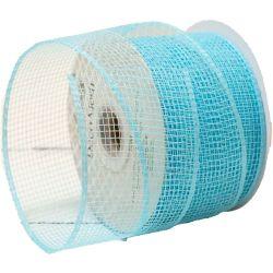 Turquoise Blue Deco Mesh Ribbon
