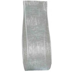25mm pale blue sheer ribbon