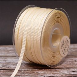 6mm x 100m Bulk Reel Cream Grosgrain Ribbon