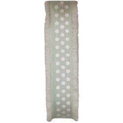 Frayed Edged Dot's Ribbon In Pale Mint 18mm x 20m
