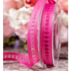 15mm Pink Ladder Grosgrain Ribbon By Berisfords Ribbons