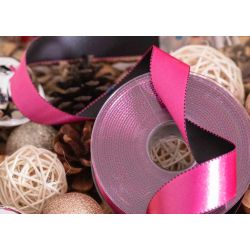 25mm pink and black ribbon