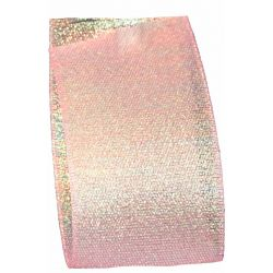 Candy Shimmer Ribbon in Blush - 38mm x 10m