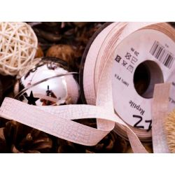 25mm pale pink ribbon with iridescent thread