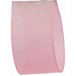 Candy Shimmer Ribbon in Sugar Pink - 38mm x 10m