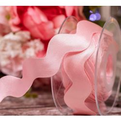 Ric Rac Satin Ribbon - Pink Azalea