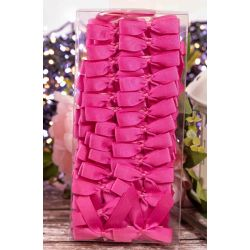 100 pink grosgrain bows with self adhesive pads