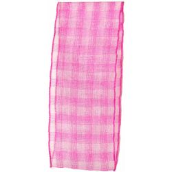 Sheer Gingham Ribbon Col: Shocking Pink