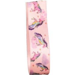 Unicorn Dreams Ribbon in Pink 25mm x 20m
