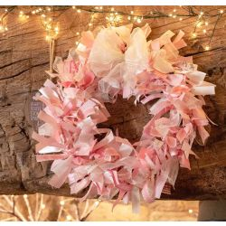 pink ribbon wreath kit