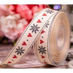 Snowflake Stitch Beresfords Ribbon - 25mm x 20