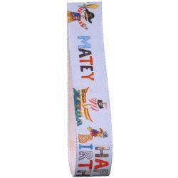 Birthday Pirate Ribbon 25mm x 25m