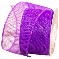 Purple Deco Mesh Ribbon