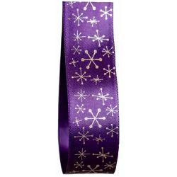 Christmas Snowflake design on 25mm satin ribbon
