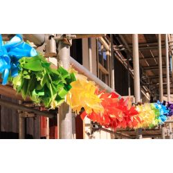 ribbon rainbow garland
