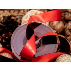 red and black satin ribbon