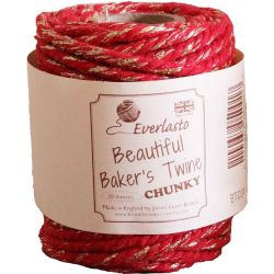 Chunky Red and Gold Bakers Twine