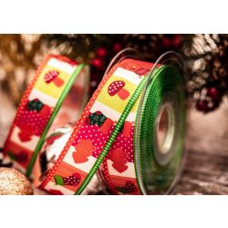 Christmas Ribbon 25mm Patchwork design from Kuny Ribbons