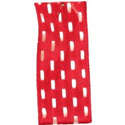 Parallel Stitch in Red and White by Berisfords Ribbons